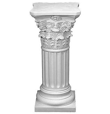 Pedestal : PEDESTAL BASE ... Base Drape Accent Cast Plaster Pedestal ...