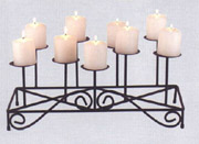 9-Candle Fireplace Candleabra