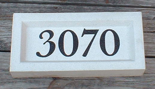 Small Address Plaque Cast Stone Stone Address Sign, Block