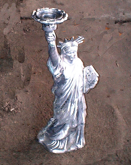 Small Statue of Liberty Sconce