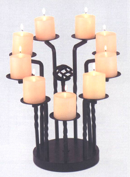 Tall 9 Candle Fireplace Mantel Candleabra Firebox Accessories