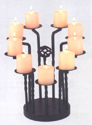 Tall 9-Candle Fireplace Candleabra