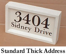Standard Thick Address Block
