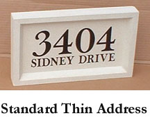 Standard Thin Address Block